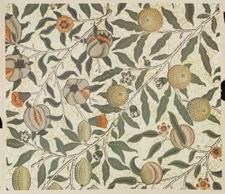 Photo of Fruit wallpaper, William Morris, 1865 – 66, England. Museum no. E.2210-1913. © Victoria and Albert Museum, London