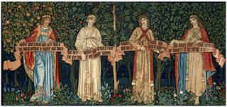 Photo of The Orchard, tapestry, designed by William Morris and John Henry Dearle, made by 1890, England. Museum no. 154-1898. © Victoria and Albert Museum, London