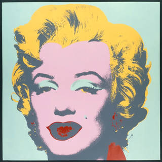 Photo of Marilyn Monroe, screenprint, Andy Warhol, printed by Aetna Silkscreen Products Inc./ Du-Art Displays, published by Factory Additions, 1973, US. Museum no. CIRC.121-1968. © Victoria and Albert Museum, London/The Andy Warhol Foundation for the Visual Arts, Inc./ARS, NY and DACS, London 2001