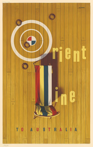 Orient Line, poster, Abram Games, 1953, England. Museum no. E.326-1981. © Victoria and Albert Museum, London