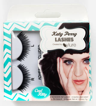 Photo of Katy Perry false eyelashes, manufactured by Eylure, 2013, Indonesia. Museum no. CD.24:1 to 5-2014. © Victoria and Albert Museum, London