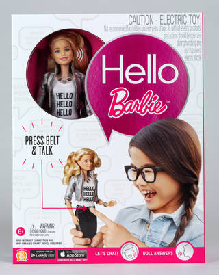 Photo of Hello Barbie doll, designed by Mattel, Inc., developed by ToyTalk Inc, 2015, China. Museum no. CD.33:1 to 6-2015. © Victoria and Albert Museum, London