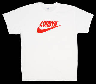 Photo of Corbyn t-shirt, designed by Bristol Street Wear, 2017, Bristol, England. Museum no. CD.294-2017. © Victoria and Albert Museum, London