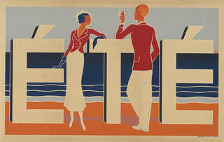 Été, poster, M.E. Caddy, 1925, France. Museum no. E.245-1981. © Victoria and Albert Museum, London