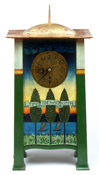 Photo of Clock, designed by Charles Francis Annesley Voysey, made by Frederick Coote, 1895 – 1901, England. Museum no. W.5:1, 2-1998. © Victoria and Albert Museum, London