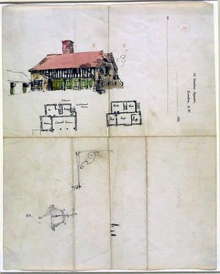 Design for a coach house, Edwin Landseer Lutyens, 1891 – 2. Museum no. E.2-1991. © Victoria and Albert Museum, London