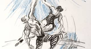 Drawn into Circus! Live performance sketching workshop photo