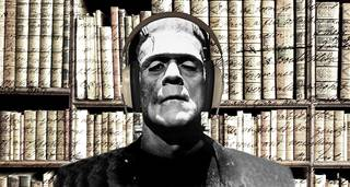 Frankenstein in the National Art Library photo