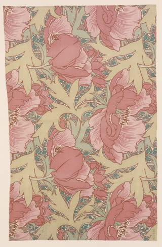 Poppies furnishing fabric, designed by Lindsay Phillip Butterfield for Turnbull & Stockdale Ltd., 1901, England. Museum no. CIRC.270-1958. © Victoria and Albert Museum, London