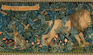 Photo of The Forest (detail), tapestry, William Morris, 1887, England. Museum no. T.111-1926. © Victoria and Albert Museum, London