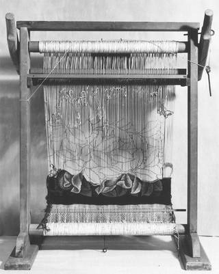 Miniature tapestry loom used by William Morris, late 19th-century, England. Museum no. 156-1893. © Victoria and Albert Museum, London