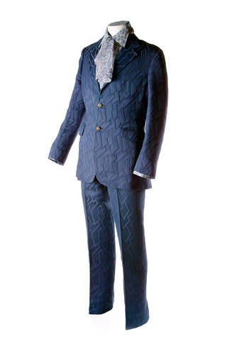 Suit worn by Geoffrey Osmint at the Captain's table on board the QE2, designed by Tom Gilbey, 1969, UK. © Museum of London