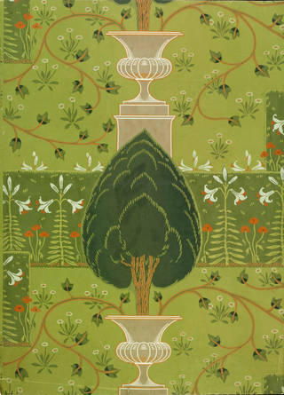 The Formal Garden, wallpaper, designed by Walter Crane, manufactured by Jeffrey & Co., 1904, England. Museum no. E.5101-1919. © Victoria and Albert Museum, London