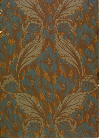 Wallpaper, designed by Arthur Heygate Mackmurdo, manufactured by Jeffrey & Co., about 1884, England. Museum no. E.888-1979. © Victoria and Albert Museum, London
