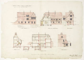 Architectural drawing, Philip Speakman Webb, 1859, England. Museum no. E.66-1916. © Victoria and Albert Museum, London