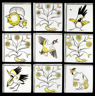 Panel, designed by Philip Speakman Webb, made by James Powell & Sons, 1859 – 1860, England. Museum no. C.63-1979. © Victoria and Albert Museum, London