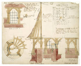 Architectural drawing, Philip Speakman Webb, 1859,England. Museum no. E.64-1916. © Victoria and Albert Museum, London