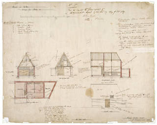 Architectural drawing, Philip Speakman Webb, 1859, England. Museum no. E.63-1916. © Victoria and Albert Museum, London
