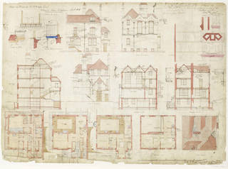 Architectural drawing, Philip Speakman Webb, 1869, England. Museum no. E.278-1916. © Victoria and Albert Museum, London