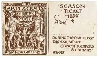 Printed season ticket, Walter Crane, 1890, England. Museum no. E.4164-1915. © Victoria and Albert Museum, London