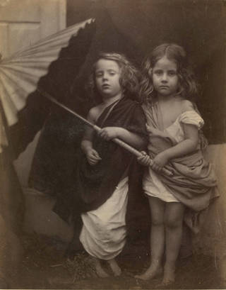 Photo of Paul and Virginia, photograph, Julia Margaret Cameron, 1864, England. Museum no. 45148. © Victoria and Albert Museum, London