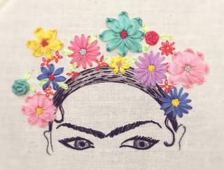 Introduction to Ribbon Embroidery: Frida Kahlo photo