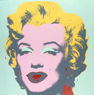 Marilyn Monroe, screenprint, Andy Warhol, printed by Aetna Silkscreen Products Inc./ Du-Art Displays, published by Factory Additions, 1973, US. Museum no. CIRC.121-1968. © Victoria and Albert Museum, London/The Andy Warhol Foundation for the Visual Arts, Inc./ARS, NY and DACS, London 2001