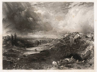 A Heath, from the English Landscape series, mezzotint, painted and published by John Constable, engraved by David Lucas, 1831, England. Museum no. E.927-2016. © Victoria and Albert Museum, London
