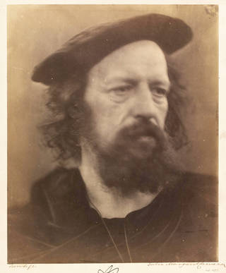 Alfred Tennyson, photograph, by Julia Margaret Cameron, 1864, England. Museum no. 45132. © Victoria and Albert Museum, London