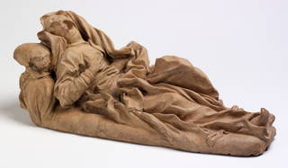 Photo of The Blessed Ludovica Albertoni, model, Gian Lorenzo Bernini, 1672, Italy, terracotta. Museum no. A.93-1980. © Victoria and Albert Museum, London