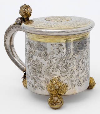 Photo of Peg tankard, unknown maker, about 1690, probably Denmark. Museum no. LOAN:GILBERT.603-2008. © Victoria and Albert Museum, London