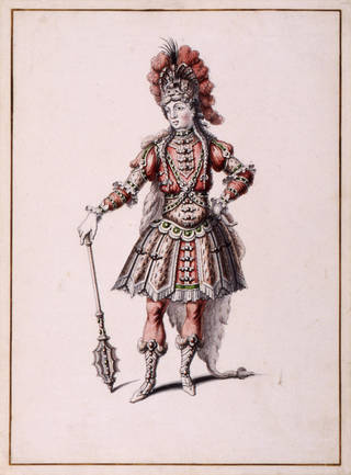 Photo of Costume design for Hercules from Atys by Jean-Louis Berain, 1676, France. Museum no. S.1108-1982. © Victoria and Albert Museum, London