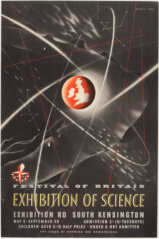 Exhibition of Science, poster, Robin Day, 1951, UK. Museum no. E.1923-1952. © Robin and Lucienne Day Foundation/Victoria and Albert Museum, London