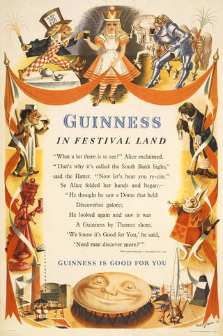 Guinness in Festival Land, poster, Eric George Fraser, 1951, UK. Museum no.  E.551-1987. © Victoria and Albert Museum, London