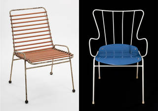 Left to right: Springbok, chair, Ernest race, 1951, UK. Museum no. W.34-1987. © Victoria and Albert Museum, London. Antelope, armchair, Ernest Race, designed 1950, manufactured 1970. Museum no. CIRC.304-1970. © Victoria and Albert Museum, London