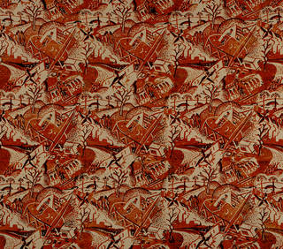 Festival of Britain, scarf (detail), Joyce Clissold, 1951, UK. Museum no. T.76-1990. © Victoria and Albert Museum, London