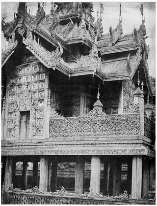 Photo of Amerapoora. Basement of Pyathat of Kyoung No, photograph by Linnaeus Tripe, 1855, Burma. Museum no. 2186-1933. © Victoria and Albert Museum, London