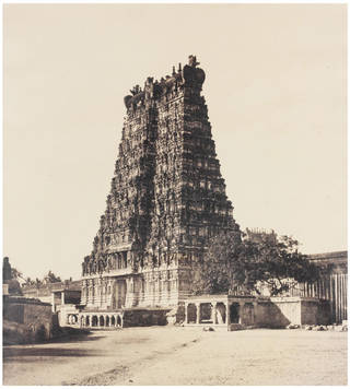 Photo of The East Gopuram of the Great Pagoda by Linnaeus Tripe, 1858, India. Museum no. IS.40:2-1889. © Victoria and Albert Museum, London