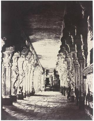 The outer Prakurum, or corridor around the Temple of the god Sundareshawara, by Linnaeus Tripe, 1858, India. Museum no. IS.40:11-1889. © Victoria and Albert Museum, London
