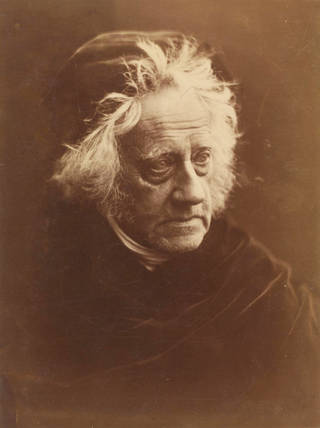 J.F.W. Herschel, photograph, by Julia Margaret Cameron, 1867, England. Museum no. 1144-1963. © Victoria and Albert Museum, London