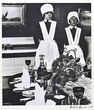 Parlourmaid and Under-parlourmaid Ready to Serve Dinner, photograph by Bill Brandt, 1938. © Bill Brandt Archive Ltd.