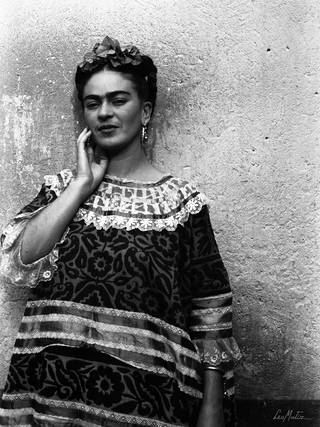 Frida Kahlo, by Leo Matiz, 1943, Coyoacán, Mexico. Private Collection. © Alejandra Matiz. Leo Matiz Foundation.
