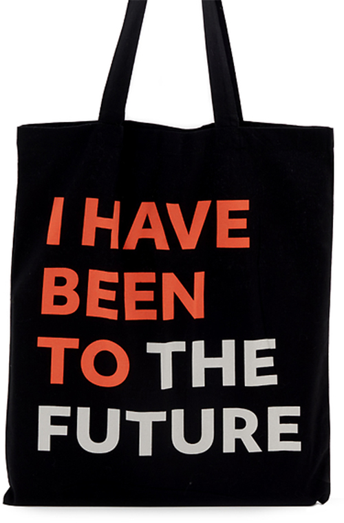 The Future Starts Here tote bag
