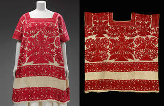 Huipil (woman's tunic), unknown, 1800s, Oaxaca state, Mexico. Museum no. T.75-1922. © Victoria and Albert Museum, London