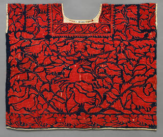 Huipil (woman's tunic), unknown, 1870 – 1900, Oaxaca state, Mexico. Bequeathed by Alfred Percival Maudslay. Museum no. T.28-1931. © Victoria and Albert Museum, London