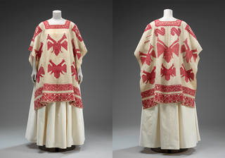 Huipil (woman's tunic), unknown, 1850 – 1907, Oaxaca state, Mexico. Bequeathed by Alfred Percival Maudslay. Museum no. T.264-1928. © Victoria and Albert Museum, London