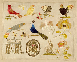 Sampler, unknown, 1770-1799, Mexico. Bequeathed by A. F. Kendrick. Museum no. T.91-1954. © Victoria and Albert Museum, London