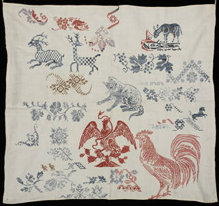 Sampler, unknown, mid 19th century, Mexico. Museum no. T.565-1919. © Victoria and Albert Museum, London