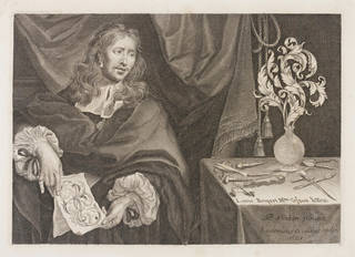 Portrait of the goldsmith Louis Roupert, engraving by Louis Cossin after Pierre Rabon,1668, France. Museum no. 28787. © Victoria and Albert Museum, London