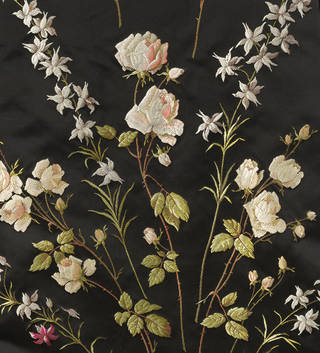 Train for a formal ensemble (detail), brocaded silk, woven in France or Britain, 1895 –  1903, France or Britain. Museum no. T.35&A-1950. © Victoria and Albert Museum, London